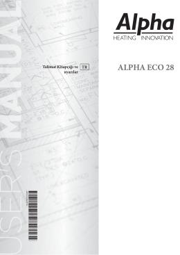 Alpha ECO 28 Yoğuşmalı Kombi Kullanım Kılavuzu