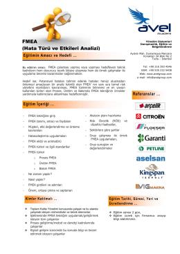 FMEA (Hata Türü ve Etkileri Analizi)