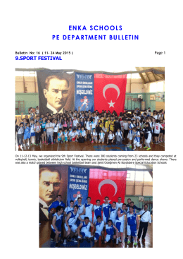 enka schools pe department bulletın