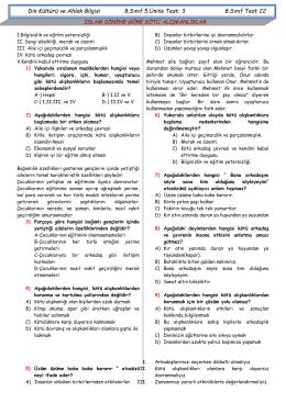 8.SNF.5.ÜNİT.TEST 3
