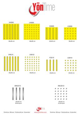 Engelli Katalog Ufak - Yöntime Mimari Yönlendirme sistemleri