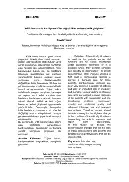 derleme revıew - Türk Kardiyoloji Derneği