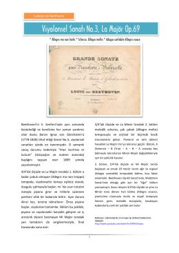 Viyolonsel Sonatı No.3, La Majör Op.69