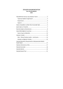 Diyalektik Hukukbilimi Notları