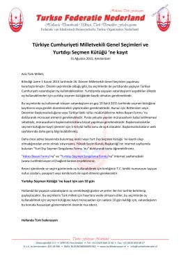 Türkiye Cumhuriyeti Milletvekili Genel Seçimleri ve Yurtdışı Seçmen