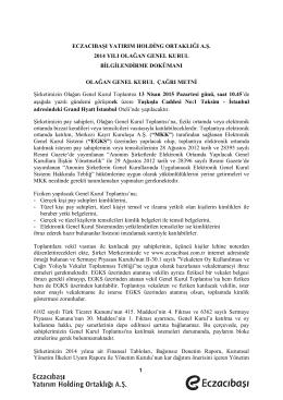Genel Kurul Bilgilendirme Dökümanı 2014 1