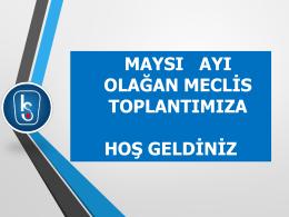 2015 Mayıs Ayı Yönetim Kurulu Aylık Faaliyet