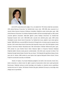 Dr. Arda KAYHAN - Türk Radyoloji Derneği