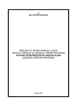 Çerçeve Öğretim Programı - Gül - Celal Toraman Mesleki ve Teknik