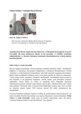 Antimikrobiyal Direnç - Veteriner Farmakoloji ve Toksikoloji Derneği.