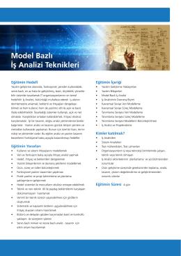 Model Bazlı İş Analizi Teknikleri