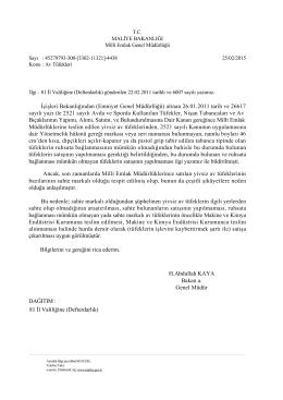 İçişleri Bakanlığından (Emniyet Genel Müdürlüğü) alınan 26.01