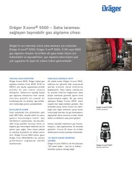 Dräger X-zone® 5500 – Saha taraması sağlayan taşınabilir gaz