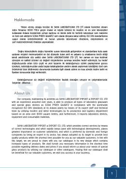 Saha Laboratuvar Cam ve Laboratuvar Malzemeleri Ltd. Şti.