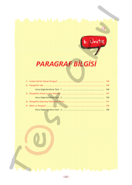 PARAGRAF BİLGİSİ - Your Pocket Library