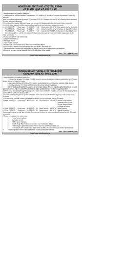 hendek belediyesine ait işyerlerinin kiralama işine ait ihale ilanı