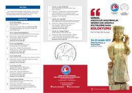 Kolokyum Programı - Mehmet Akif Ersoy Üniversitesi Göller Yöresi