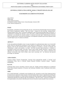 geothermal fluıd(brıne