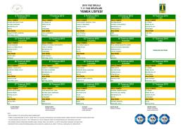2015 Yaz Okulu 7-11 Yaş Grupları Yemek Listeleri için tıklayınız.