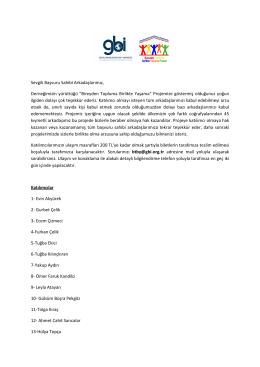 BTBY Katılımcı Listesi