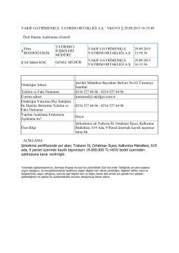 29 eylül 2015 trabzon taşınmaz satışı hk.