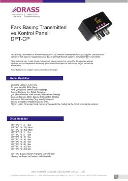 Fark Basınç Transmitteri ve Kontrol Paneli DPT-CP