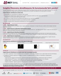 Insights Discovery akreditasyonu ile kurumunuzda fark yaratın!