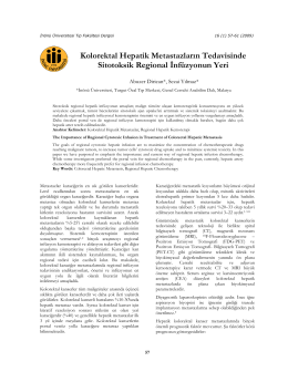 kolorektal hepatik metastazların tedavisinde sitotoksik regional
