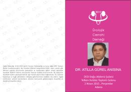 dr. atilla gürel anısına - Ürolojik Cerrahi Derneği