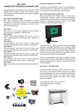 ıso 12647 basım sektörünün standartları
