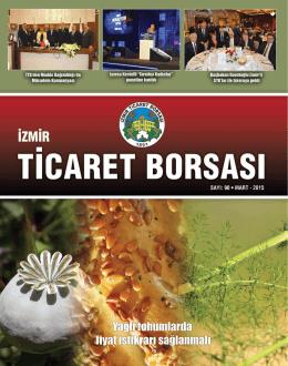 Sayı: 90 - Mart 2015 - İzmir Ticaret Borsası