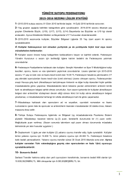 türkiye sutopu federasyonu 2015