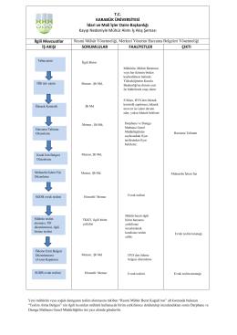 Kayıp mühür işlemleri iş akış şeması