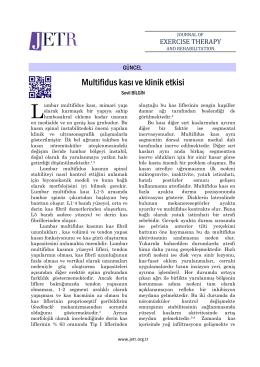 Multifidus kası ve klinik etkisi