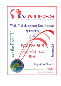 WMESS 2015 - Abstract Collection