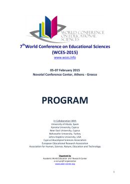 wces-2015 program