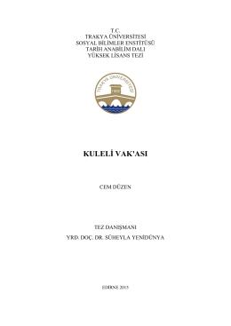 kuleli vak`ası - Trakya Üniversitesi