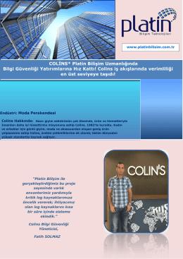 Colins iş akışlarında verimliliği
