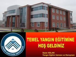 3-Temel Yangın Eğitimi - Çankırı Karatekin Üniversitesi