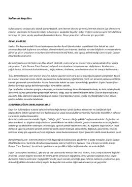 Kullanım Koşulları - Domaintedarik.com