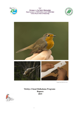 Türkiye Ulusal Halkalama Programı Raporu 2015