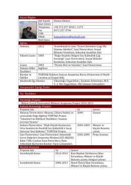 Yrd. Doç. Dr. Hamza EKMEN - Fen Edebiyat Fakültesi