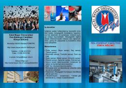 Kimya - Fen-Edebiyat Fakültesi