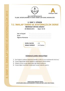T.C. İnkilap Tarihi ve Atatürkçülük