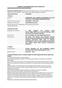 DAMPERLİ YARI RÖMORK DORSE SATIN ALINACAKTIR