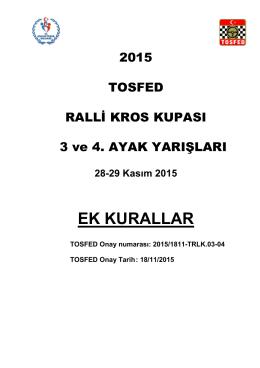 2015-Orhangazi RalliKros Ek Kurallar