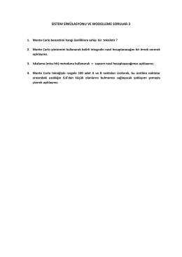 SİSTEM SİMÜLASYONU VE MODELLEME SORULAR-3