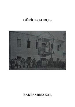 GÖRİCE (KORÇE) BAKİ SARISAKAL