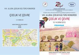 PROGRAM.compressed - Çocuk Kültürü Araştırma ve Uygulama
