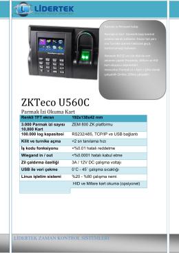 U560c Broşür - Lidertek.com.tr